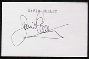 DAVID COLLEY-Cricket Autographed Index Card