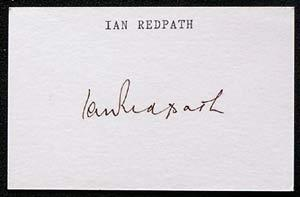 IAN REDPATH-Cricket Autographed Index Card