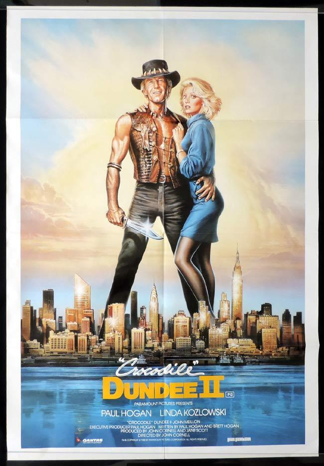 CROCODILE DUNDEE II Australian One sheet Movie poster Paul Hogan