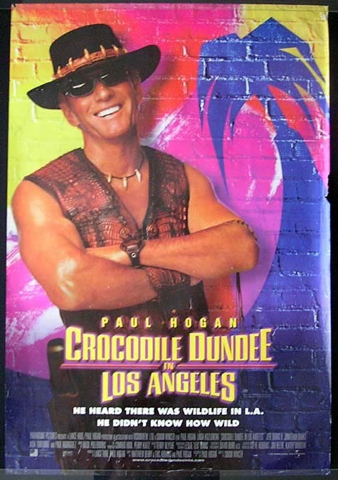CROCODILE DUNDEE IN LOS ANGELES Australian One Sheet Movie Poster