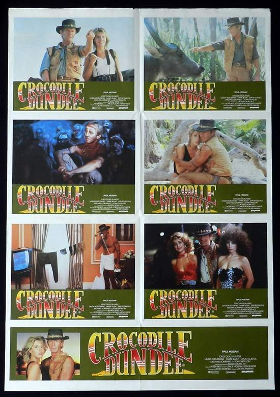 CROCODILE DUNDEE Australian Movie Photo Sheet Paul Hogan