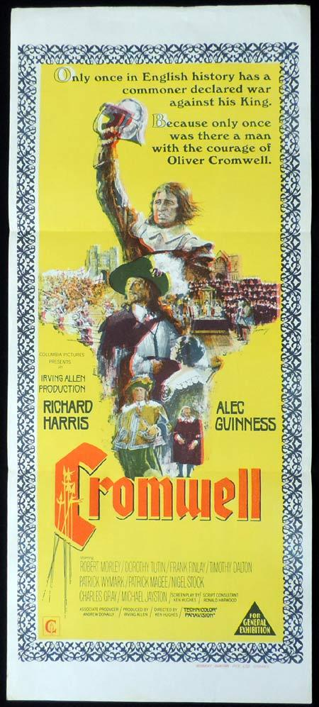 CROMWELL Original Daybill Movie Poster Richard Harris Alec Guinness