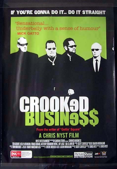 CROOKED BUSINESS Chris Nyst John Bell Movie Poster Australian One sheet