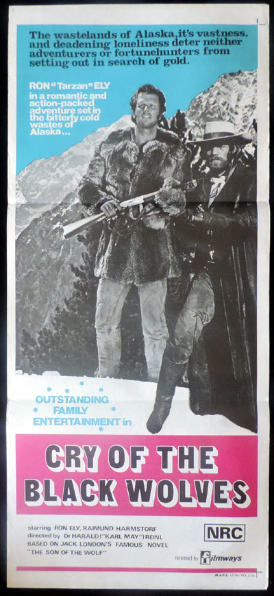 CRY OF THE BLACK WOLVES Original Daybill Movie poster ALASKA Ron Ely