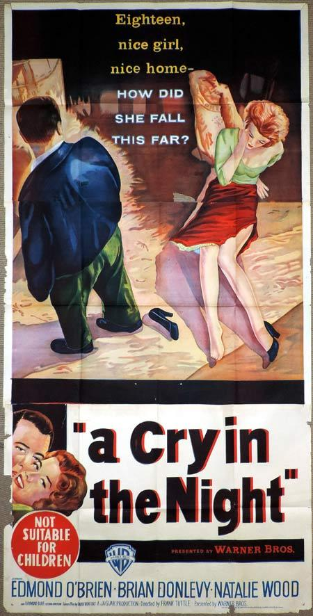 A CRY IN THE NIGHT Original 3 Sheet Movie Poster Natalie Wood