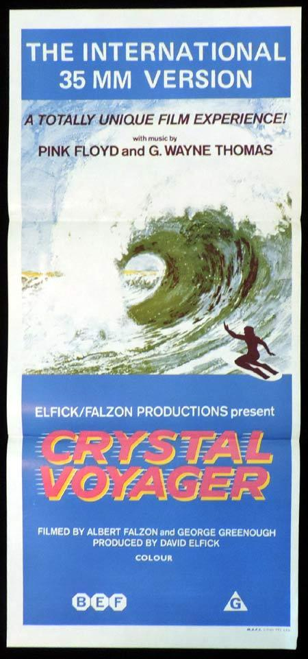 CRYSTAL VOYAGER Daybill Movie poster George Greenough SURFING