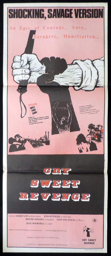 CRY SWEET REVENGE aka Uncle Tom's Cabin Original Daybill Movie Poster Herbert Lom  Sexploitation Horror