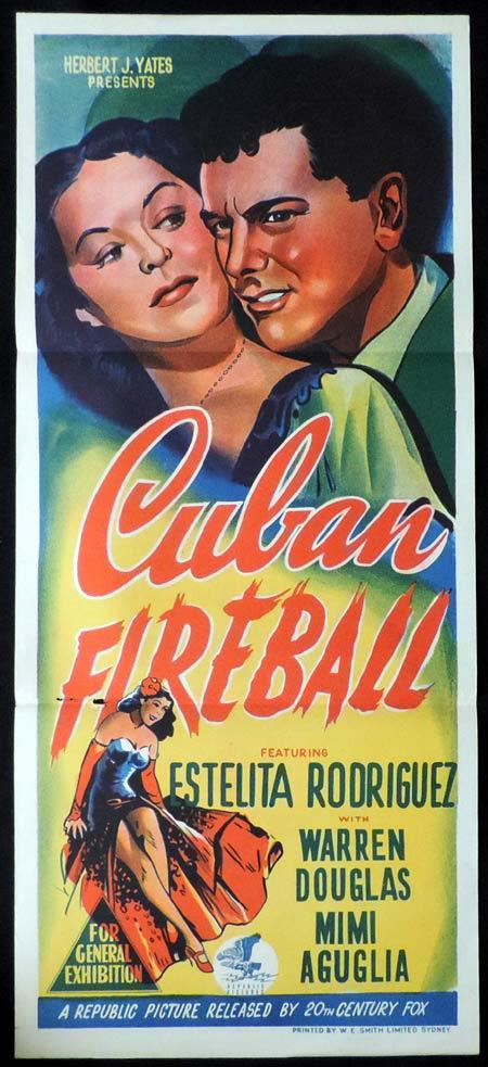 CUBAN FIREBALL Original Daybill Movie Poster Estelita Rodriguez