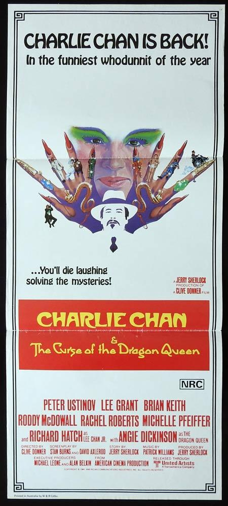 CHARLIE CHAN AND THE CURSE OF THE DRAGON QUEEN Original Daybill Movie Poster Peter Ustinov