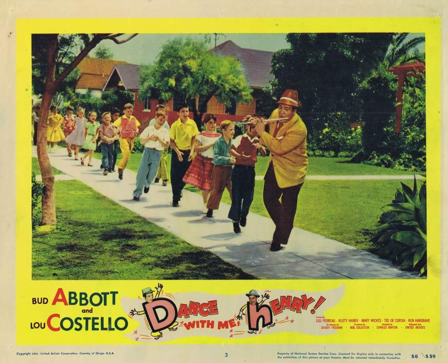 DANCE WITH ME HENRY Lobby Card 3 Abbott and Costello