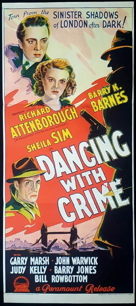 DANCING WITH CRIME Original Daybill Movie Poster Richard Attenborough Film Noir