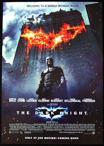 THE DARK KNIGHT '08 Batman Bale Rare Australian Daybill