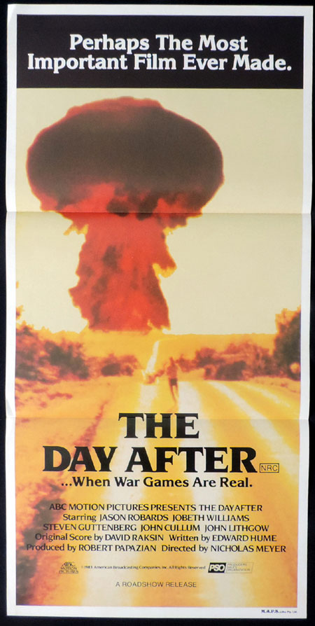 THE DAY AFTER Original Daybill Movie poster Jason Robards JoBeth Williams