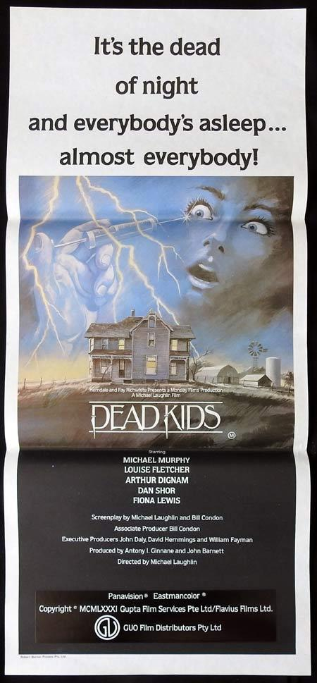 DEAD KIDS. Original Daybill. Movie Poster. Horror. Slasher. Michael Murphy