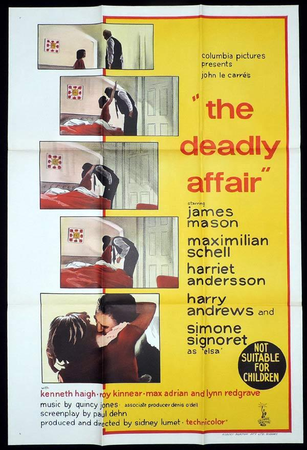 THE DEADLY AFFAIR One Sheet Movie Poster John LeCarre James Mason