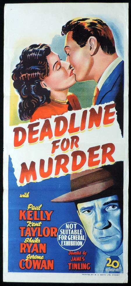 DEADLINE FOR MURDER Original Daybill Movie Poster Paul Kelly Film Noir