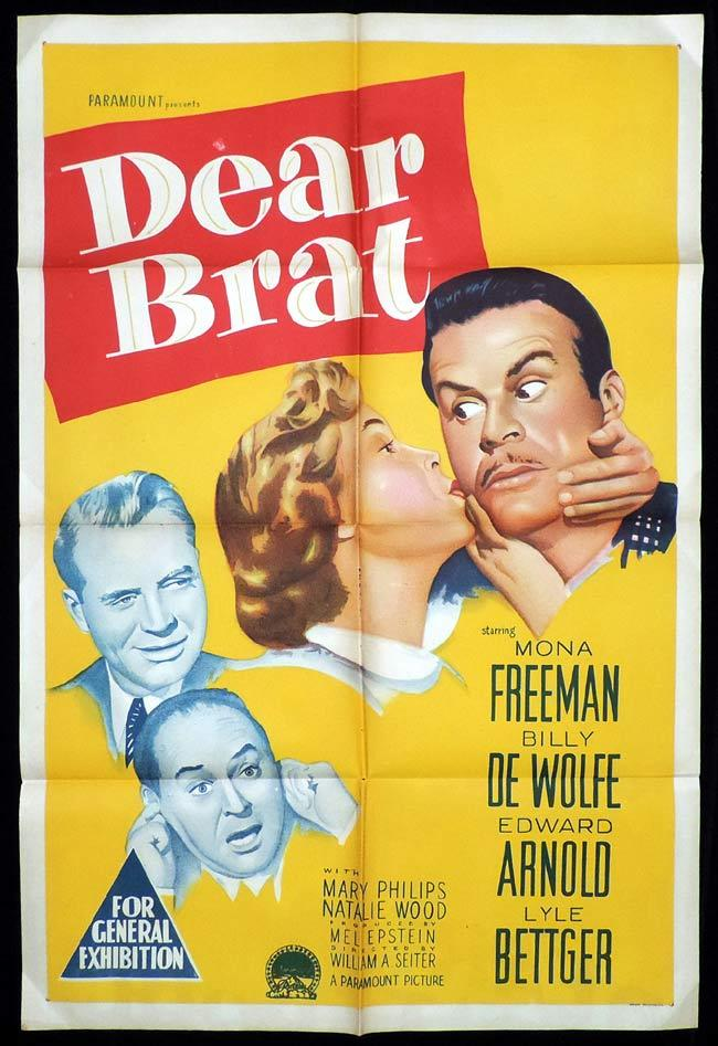 Dear Brat, William A. Seiter, Edward Arnold, Billy De Wolfe, Frank Cady, Lyle Bettger, Natalie Wood, William Reynolds, Mona Freeman, Lillian Randolph, Mary Philips