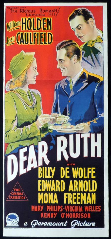 DEAR RUTH Original Daybill Movie Poster WILLIAM HOLDEN Joan Caulfield Richardson Studio