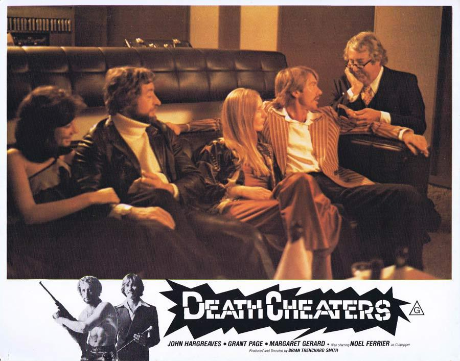 DEATH CHEATERS Lobby Card 3 Noel Ferrier Grant Page Stunt Man