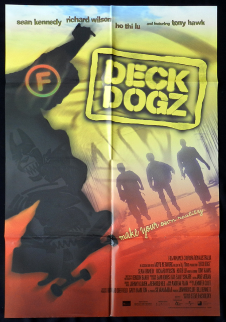 DECK DOGZ Sean Kennedy Movie Poster SKATE BOARD Australian One sheet Folded