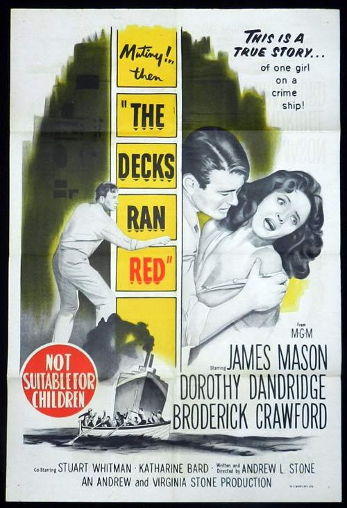 THE DECKS RAN RED One Sheet Movie Poster James Mason
