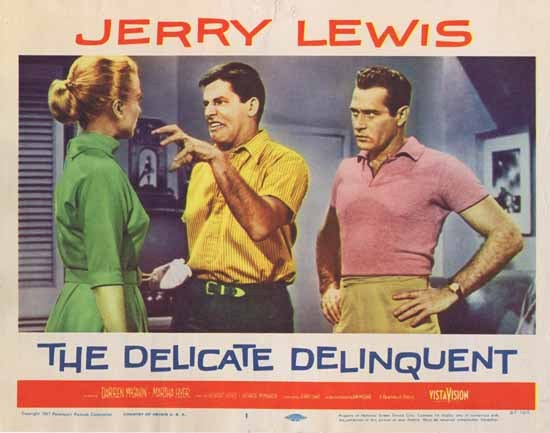 DELICATE DELINQUENT 1957 Jerry Lewis ORIGINAL US Lobby card 1