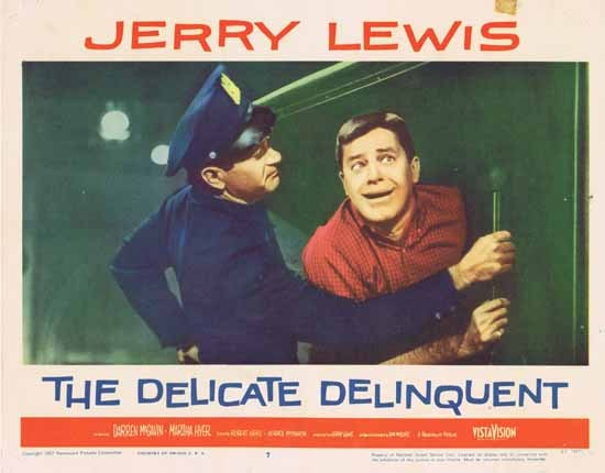 DELICATE DELINQUENT 1957 Jerry Lewis ORIGINAL US Lobby card 7
