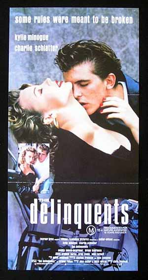 DELINQUENTS. The 1989 Kylie Minogue ORIGINAL Rare Daybill Movie poster