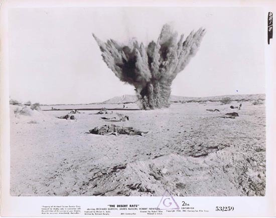 THE DESERT RATS 1953 Movie Still Photo 15 Explosion