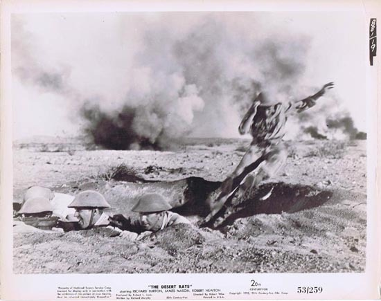 THE DESERT RATS 1953 Movie Still Photo 23 Anzac into the trench