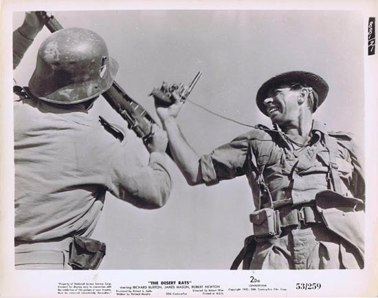 THE DESERT RATS 1953 Movie Still Photo 3 Gun Battle at Tobruk