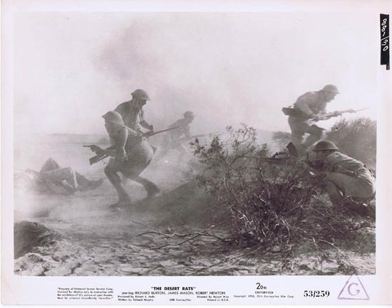 THE DESERT RATS 1953 Movie Still Photo 6 Anzacs troops battle at Tobruk