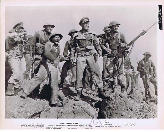 THE DESERT RATS 1953 Movie Still Photo 8 Happy Anzac Troops