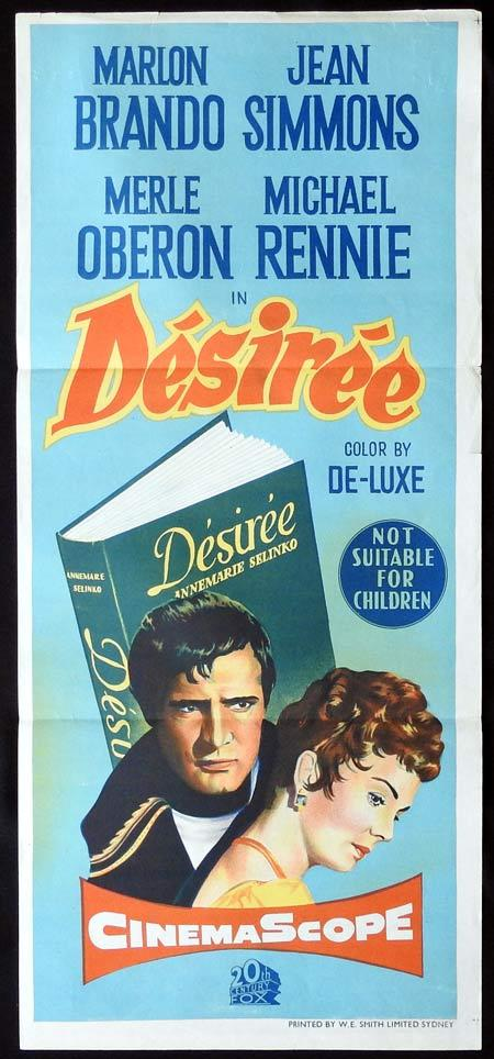 DESIREE Original Daybill Movie Poster Marlon Brando Jean Simmons Merle Oberon