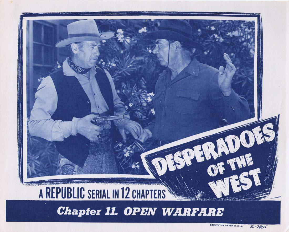 DESPERADOES OF THE WEST Original Lobby Card 2 Chapter 11 Republic Serial 1950