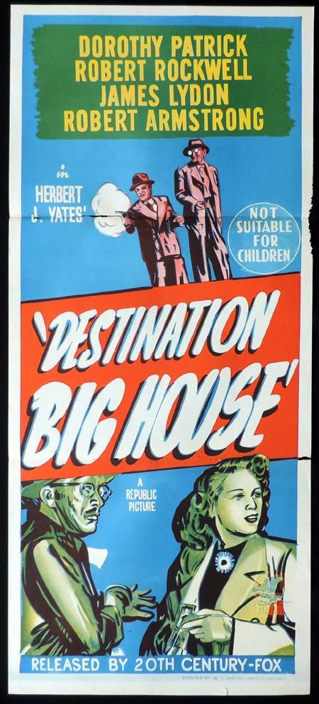 DESTINATION BIG HOUSE Original Daybill Movie Poster Dorothy Patrick Robert Rockwell Film Noir