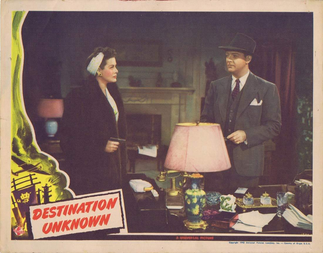 DESTINATION UNKNOWN Lobby Card 3 William Gargan Irene Hervey Sam Levene