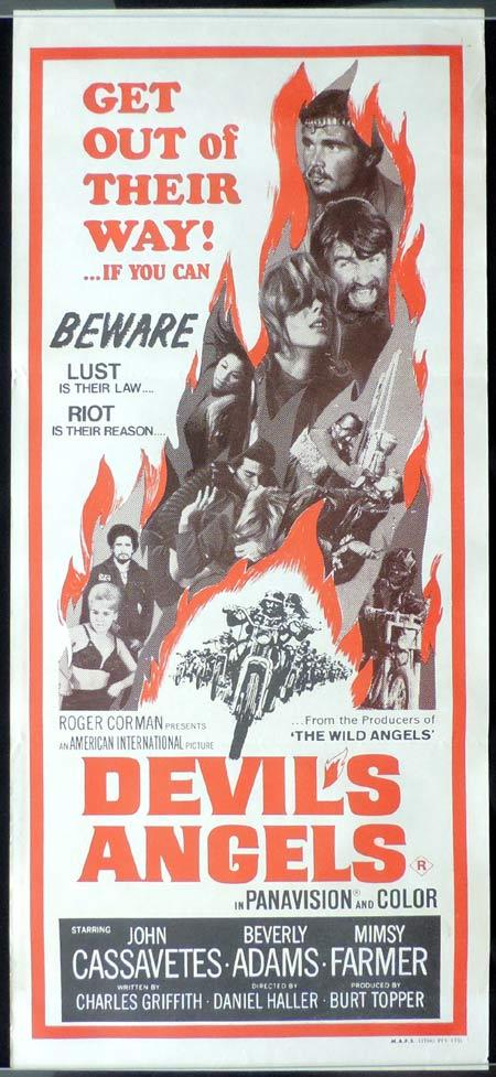 DEVIL'S ANGELS Original Daybill Movie Poster Motorcycle Biker