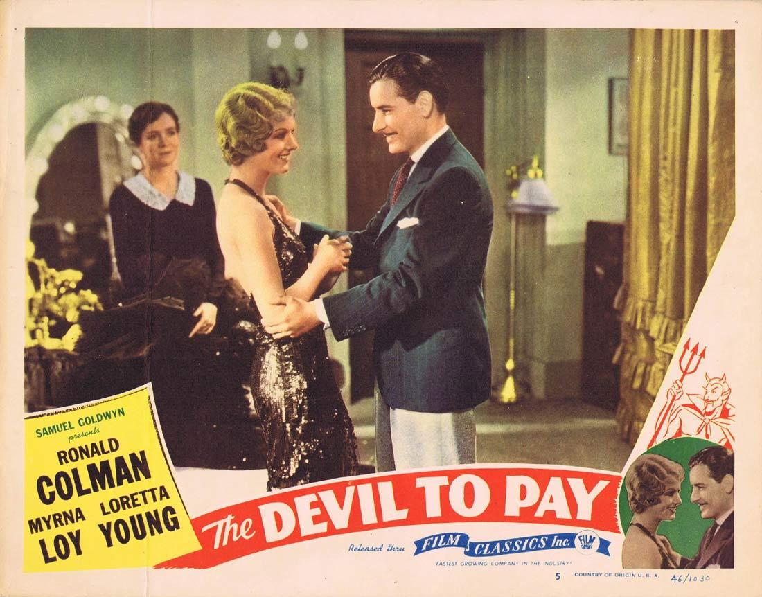 THE DEVIL TO PAY Lobby Card 5 Ronald Colman Loretta Young 1946r