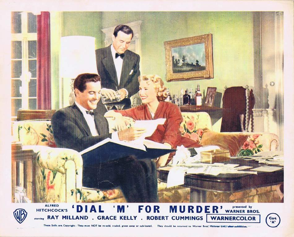 DIAL M FOR MURDER Front of House Movie Still 2 1954 8 x 10 Grace Kelly Alfred Hitchcock