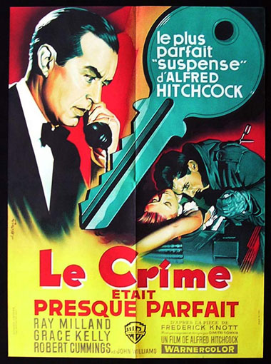 DIAL M FOR MURDER Original Movie poster 1959r Grace Kelly Alfred Hitchcock French Affiche