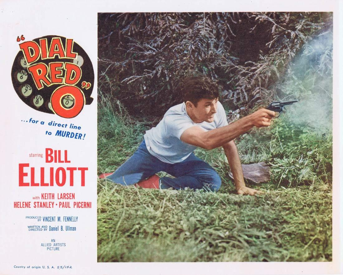 DIAL RED O Lobby Card 8 Bill Elliott Helene Stanley Keith Larsen