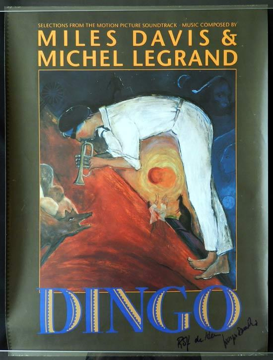 DINGO 1991 Autographed by Rolf de Heer Movie poster