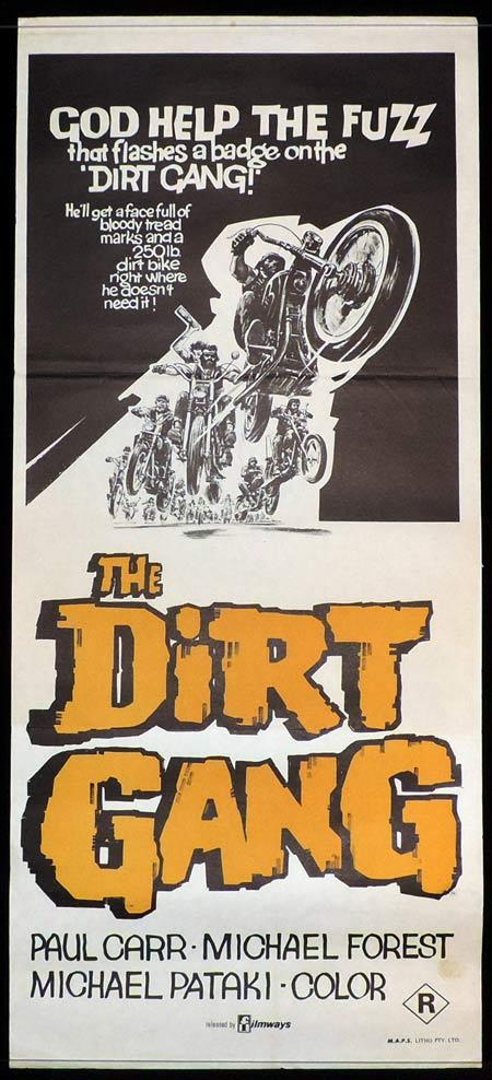 THE DIRT GANG Original Daybill Movie Poster Motorcycle Biker