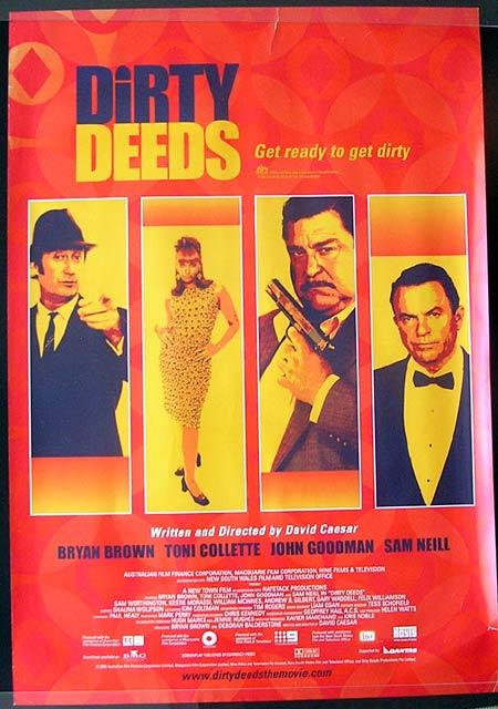 "DIRTY DEEDS 2002 1 sheet Movie poster Bryan Brown Toni Collette ""B"""