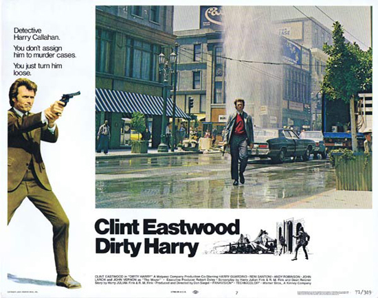 DIRTY HARRY Lobby Card 7 1971 Clint Eastwood