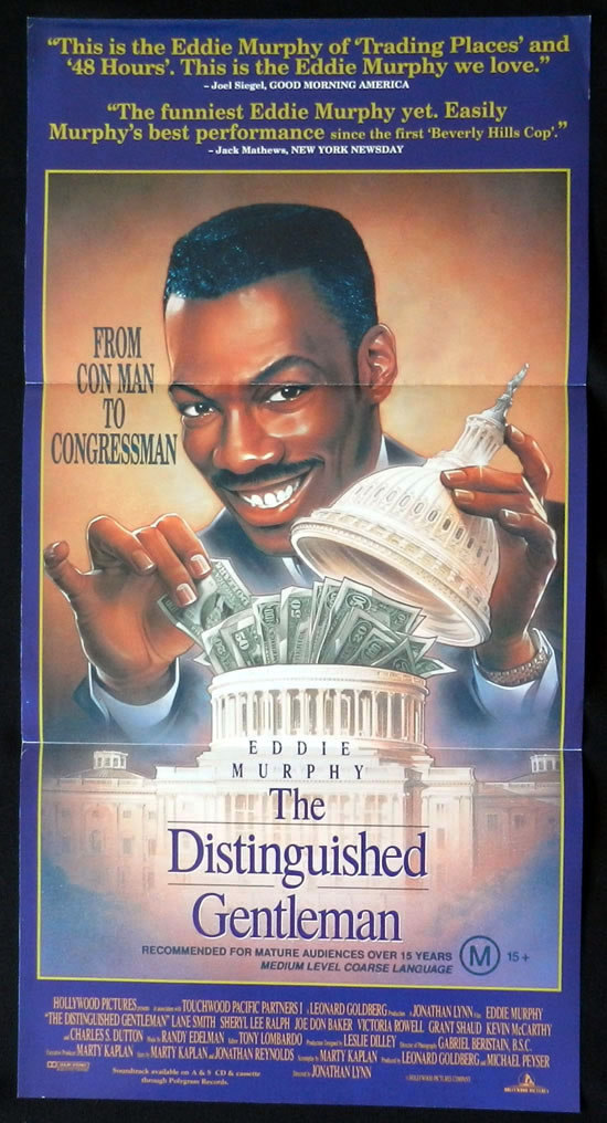 THE DISTINGUISHED GENTLEMAN Australian Daybill Movie poster Eddie Murphy
