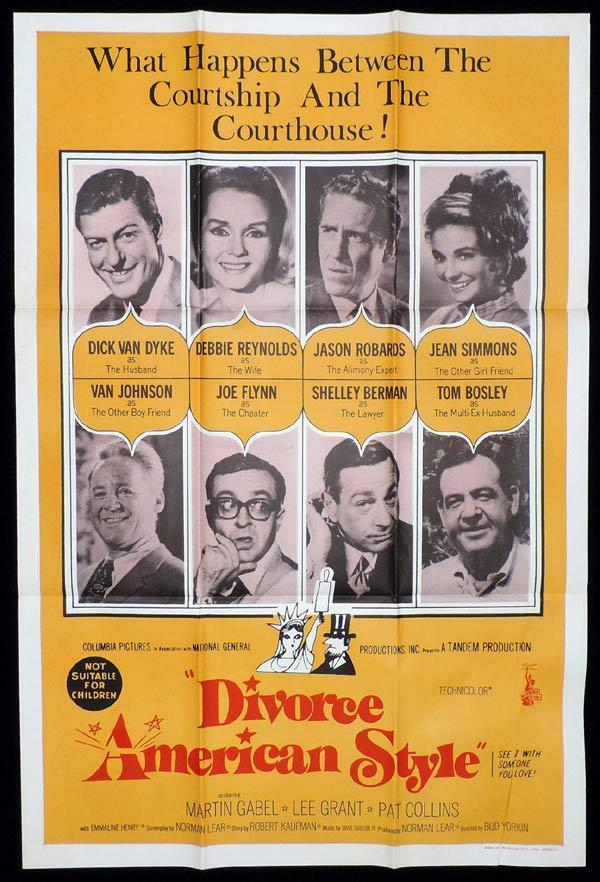 DIVORCE AMERICAN STYLE One Sheet Movie Poster Dick Van Dyke