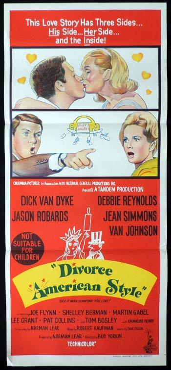 DIVORCE AMERICAN STYLE Daybill Movie poster Dick Van Dyke