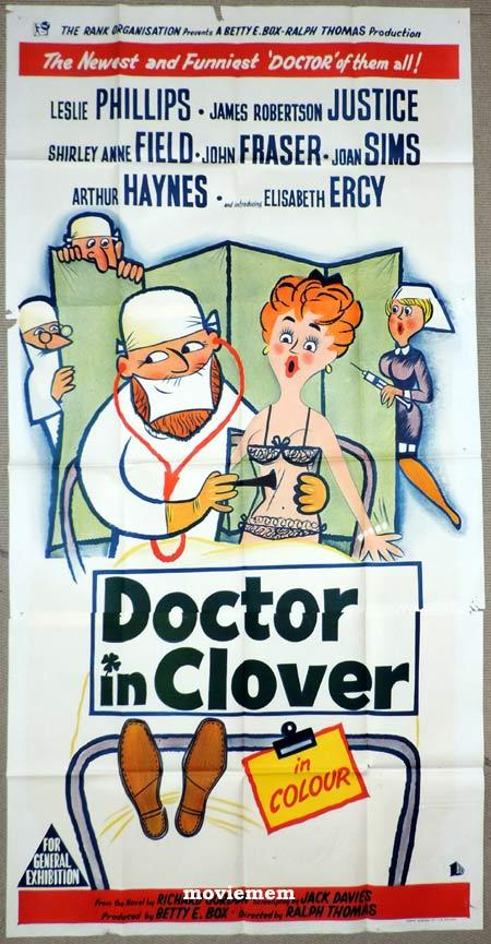 DOCTOR IN CLOVER Original 3 Sheet Movie Poster British Comedy Leslie Phillips
